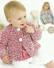BABY KNITTING PATTERN  chunky  long or short sleeve cardigan   0 /3 m to 7 yrs