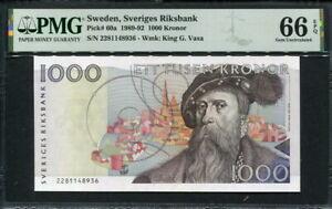 Sweden 1989-1992, 1000 Kronor, P60a, PMG 66 EPQ GEM UNC