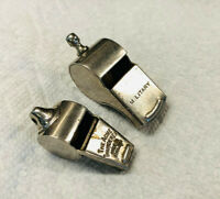 Vintage 'The Acme Thunderer' Whistle England & Military Whistle Lot