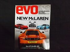 EVO MAGAZINE ISSUE 136 NOVEMBER 2009. MCLAREN MP4-12C. FERRARI 458. SLS AMG.