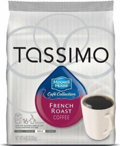 NIB 80 Tassimo Maxwell House French Roast Arabica Coffee Bold Brew Gift FreeShip