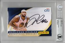 DeMarcus Cousins Signed Auto 2019 Panini 4x6 Promo Card Beckett BAS Warriors