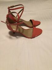michael kors womens strappy open toe heels ava mid sandal pink size US 7.5 m new