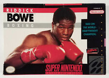 Riddick Bowe Boxing Super Nintendo SNES Box Only Original 1993 Box
