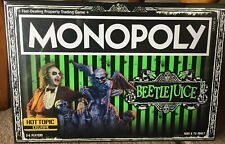 MONOPOLY~BEETLEJUICE~ HOT TOPIC LIMITED EDITION HASBRO BOARD GAME BRAND NEW