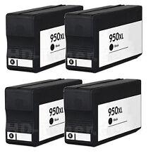 4 cartuchos de Tinta NON OEM HP 950xl OfficeJet 8100 8600 8610 8620 pro n911g