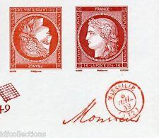 4874/71 paire tête bêche 1€ cérès vermillon+carmin typo+gravé salon timbre 2014