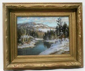 OTTO PLANDING (1887-1964) - WINTER SCENE - LAURENTIAN MOUNTAINS