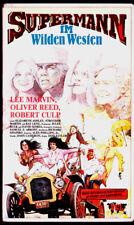 """VHS - FSK 18 - """" SUPERMANN im Wilden Westen """" (1976) - Lee Marvin"""