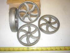 4  CAST IRON WHEEL   SM HIT & MISS GAS ENGINE MAYTAG CART CURVED SPOKE  WHEEL