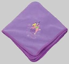 Wow! Tinkerbell Tink Two-Tone Embroidered Fleece Throw