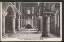 London Postcard - Tower of London - St John's Chapel In The White Tower  RS4054