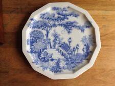 Blue Vintage Original Pottery Dinner Plates