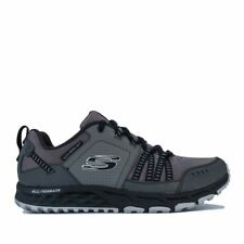 Men's Skechers Escape Plan Breathable Cushioned Walking Trainers in Grey