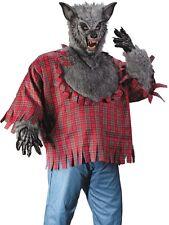 Werewolf Costume - Plus Size XL -Adult Silver Gray Fur Deluxe Were Wolf WareWolf