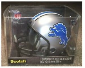 Detroit Lions Helmet NFL Scotch Tape Desk Dispenser Go Lions !! Collectible New