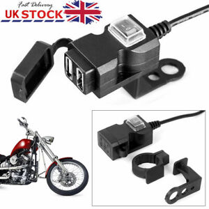 Motorbike Motorcycle USB Charger Power Adapter Socket For Phone GPS Waterproof
