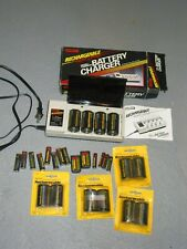 Mallory Rechargeable Battery Quick Charger And Batteries