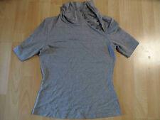 TONI GARD schönes Kurzarmshirt mit knöpfbarem Rollkragen grau Gr. 36 NEUw  ZC216