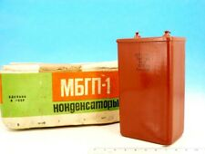 Matched Pair of PiO Capacitor 600v 10uF 630V <> Military PiO Mbgp Paper + Oil