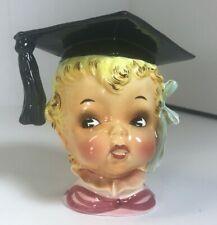 Vintage Lefton Graduation Head Pink Vase #609 Made in Japan