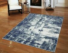 Fast Shipping Stylish Abstract Carpets Rugs Beige Blue Gray Multi Area Rug Large