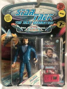 "STAR TREK NEXT GENERATION ""COMM RIKER AS A MALCORIAN"" ACTION FIGURE NEW/SEALED"