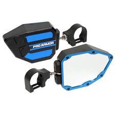 "Pro Armor Side View Breakaway Mirrors Set Blue 1.75"" Polaris Can-Am Universal"