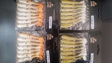 """28 pre-rigged soft plastic fishing lures BRAND NEW 3"""" long tail lure"""