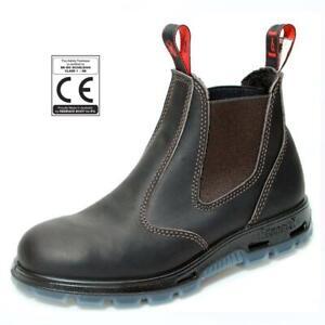 REDBACK Bobcat Australian Safety Boots CE Certified Steel Toe Cap USBOK Brown