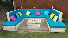 Made to Measure Cushion - Waterproof Fabric - Rattan & Pallet Garden Furniture
