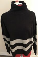 Cotton On Black/ Grey Striped Size Med , Jumper Rrp $49.95