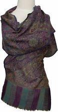 Pashmina  Schal 100% Kaschmir, Cashmere scarf  écharpe Foulard 34 x 167 Lila