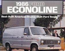 FORD ECONOLINE Transporter 150 250 350 Prospekt Brochure 30x30cm USA 1986 /G