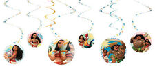 Moana Party Supplies SWIRL DECORATIONS Pack Of