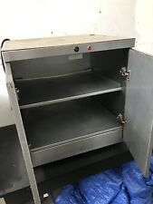 More details for hc-2 double door hot heated cupboard / plate warmer 120 plate