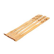 """18"""" Bamboo Wooden Massager Back Scratcher Body Itch Relaxer Stick Roller New"""