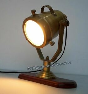 Vintage industrial designer nautical spotlight table lamp home office decor