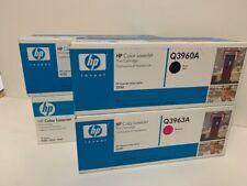 Genuine HP Q3960A Q3961A Q3962A Q3963A Conjunto de 4 122A entrega gratuita 2550 Laserjet