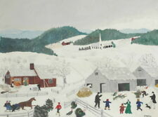 Grandma Moses Catching The Thanksgiving Turkey Giclee Paper Print Poster