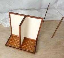 Vintage Artisan Inlay Parquet Floor Rotating Dollhouse Roombox Miniature 1:12