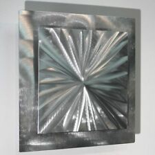 Metal Abstract Modern Silver Wall Art Sculpture Contemporary Decor By Jon Allen