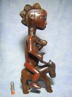 AFRICANTIC CAVALIER BAOULE ART PRIMITIF AFRICAIN ANCIEN STATUE AFRICAINE AFRIQUE