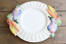 Vintage 1970s Fitz and Floyd Vegetable Plate Plater 17.25 x 14 inches