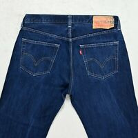 Mens LEVIS 501 Straight Jeans size W36 L29 Regular fit Button Fly Blue denim