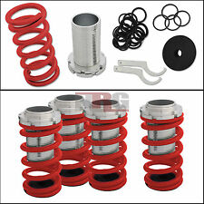 """Honda Adjustable 0-4"""" Red Suspension Coilovers Lowering Springs Kit w/ Scale"""