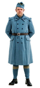 WW1 French army overcoat  pattern Horizon Blue 46 chest size X Large