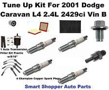 Tune Up Kit For 2001 Dodge Caravan L4 2.4L Spark Plug, Oil Air Filter, Wire Set