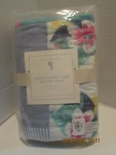 "Pottery Barn Kids ""Emmie Vintage Surf"" Quilted Euro Pillow Sham.New"