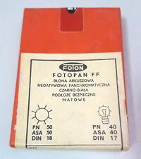 Fotopan FF b&w negative cut sheet film 6.5x9 cm 25 pcs in a box